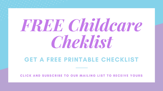 FREE Childcare Cheklist